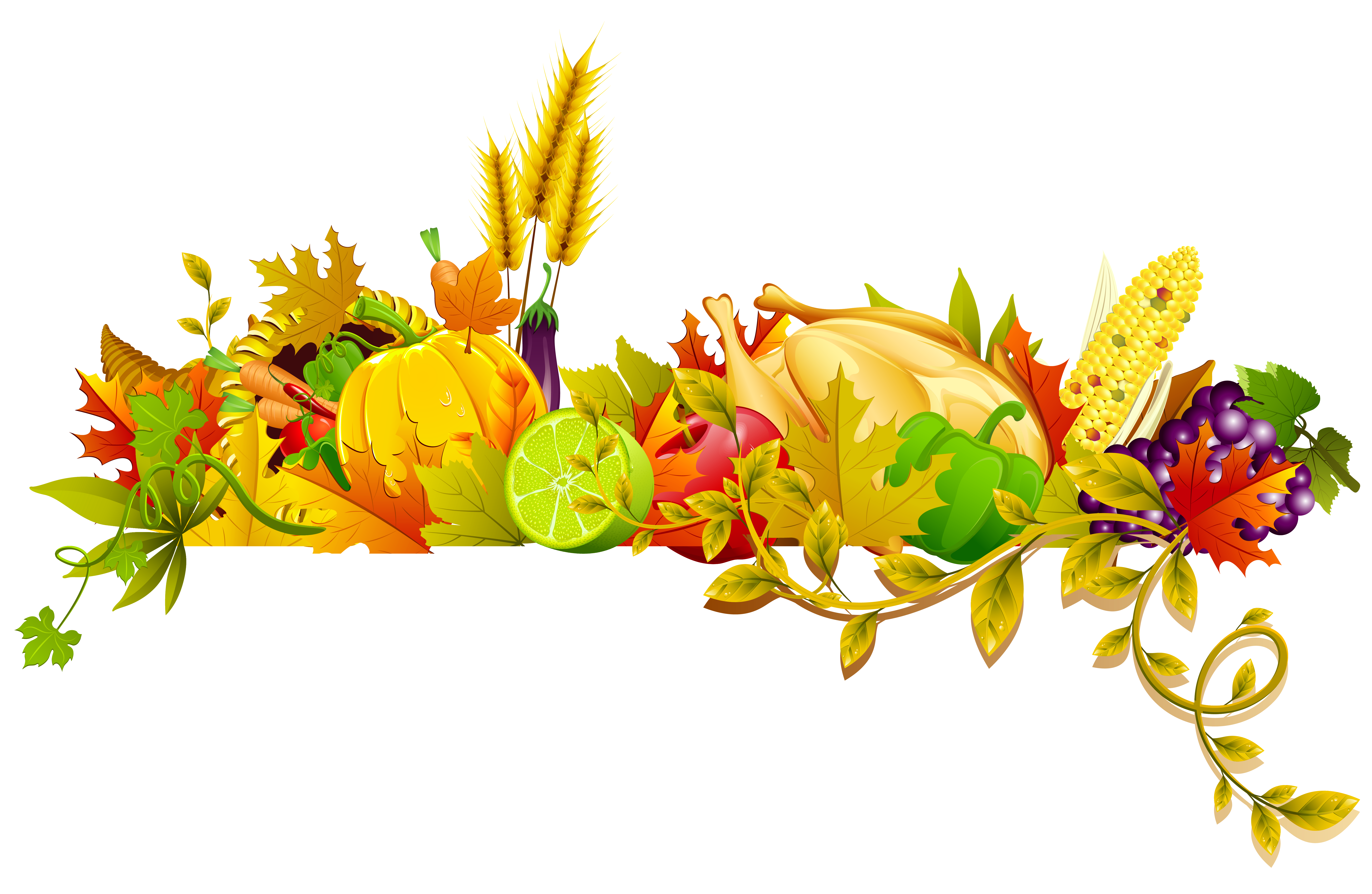 Thanksgiving png. Transparent decor clipart gallery