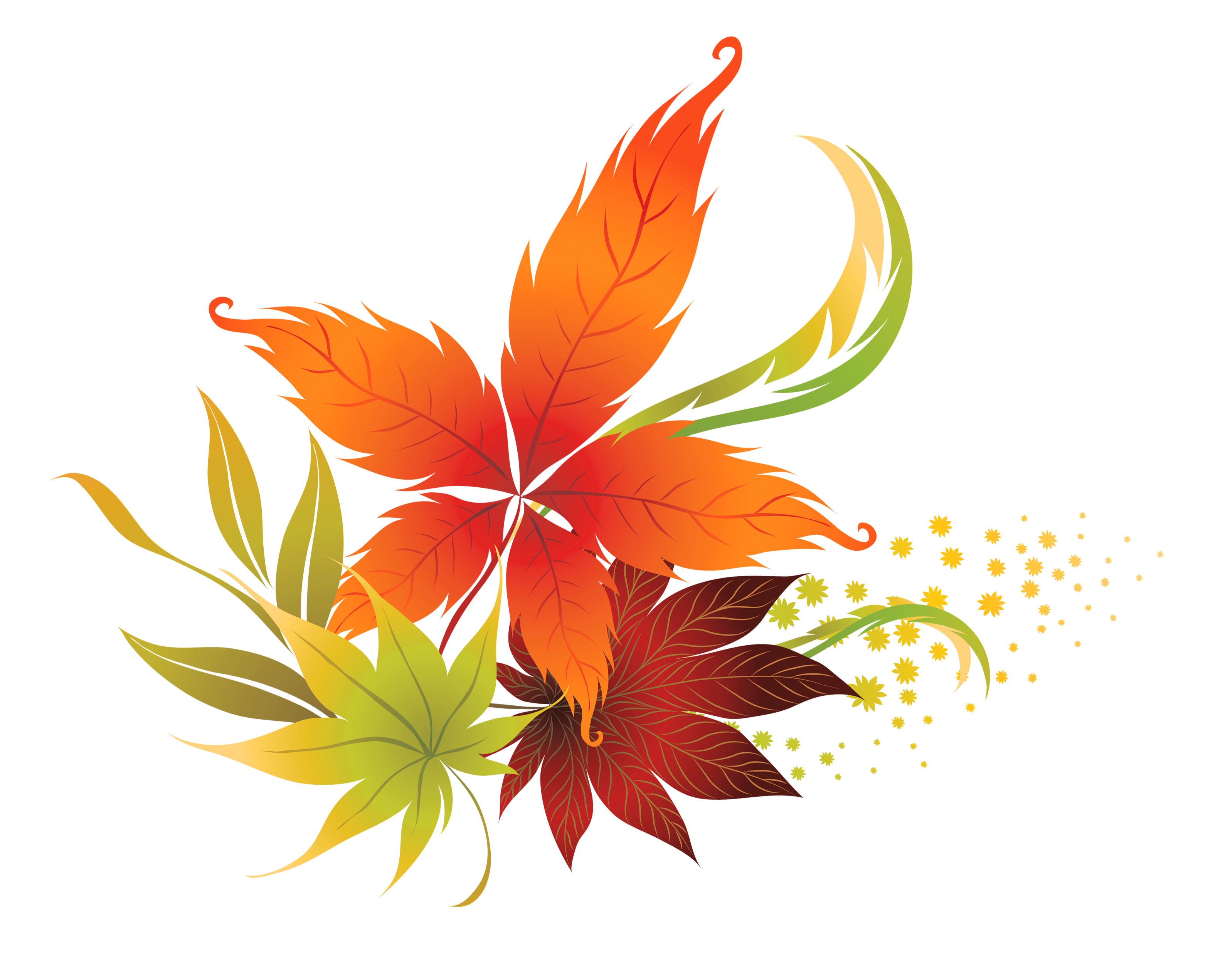 fall leaves border labels png