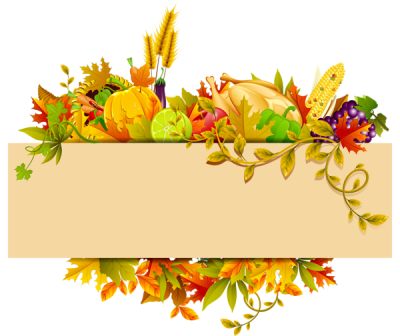 happy thanksgiving clipart transparent background