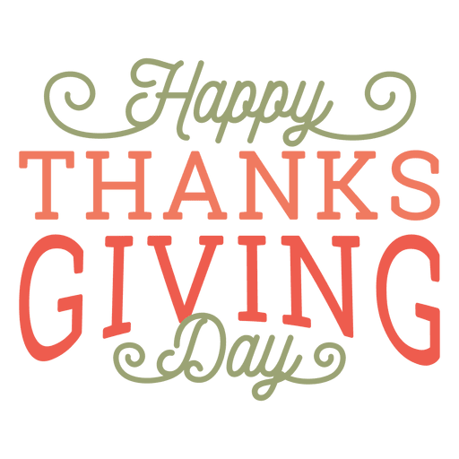 Happy thanksgiving png day. Badge transparent svg vector