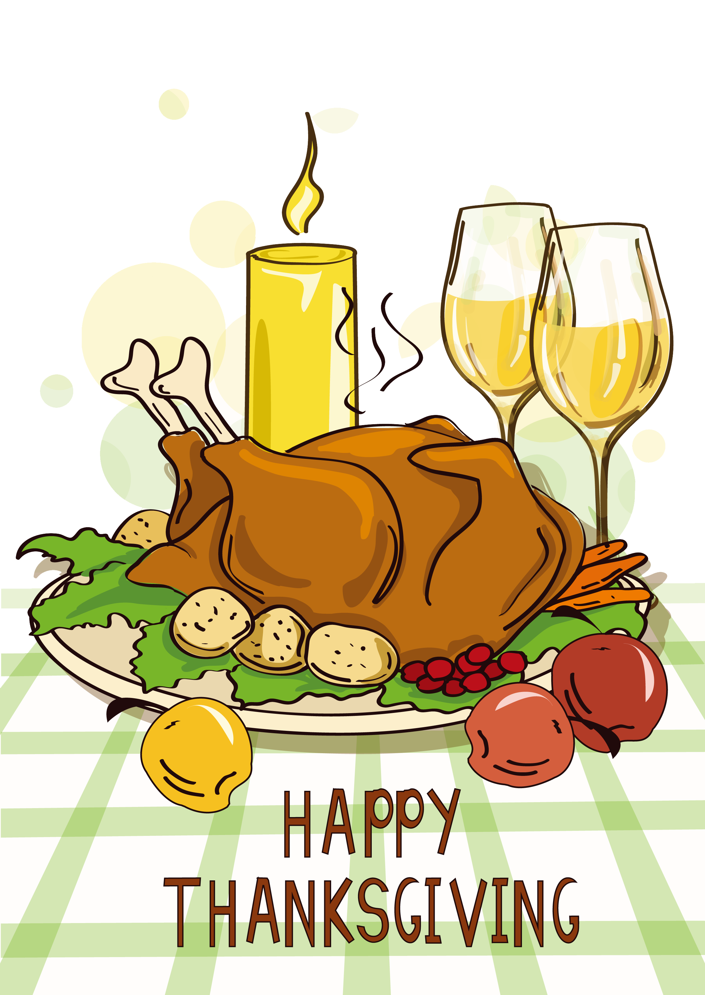 Dinner vector thanksgiving. Turkey meat cartoon chicken