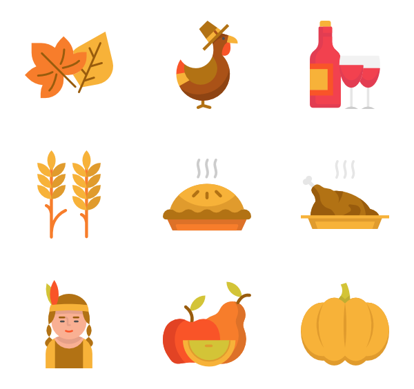 Thanksgiving icon png. Packs vector svg