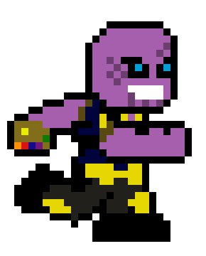 Thanos png pixel. No armor walk art