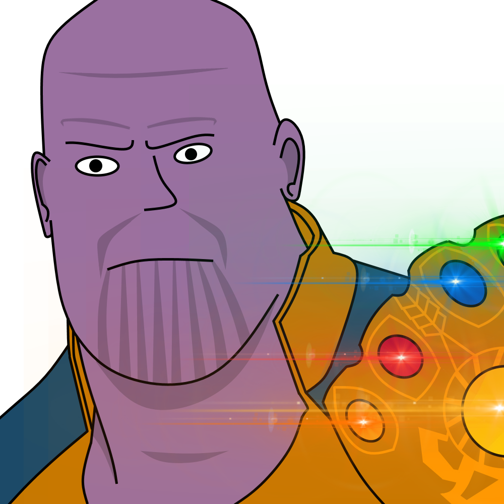 Thanos clipart. Marvel well known faces