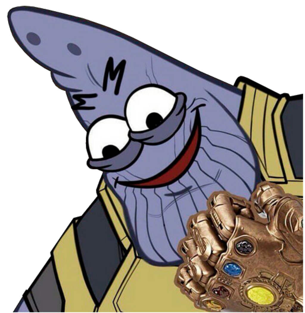 Thanos clipart new. Marvel patricio wtf meme