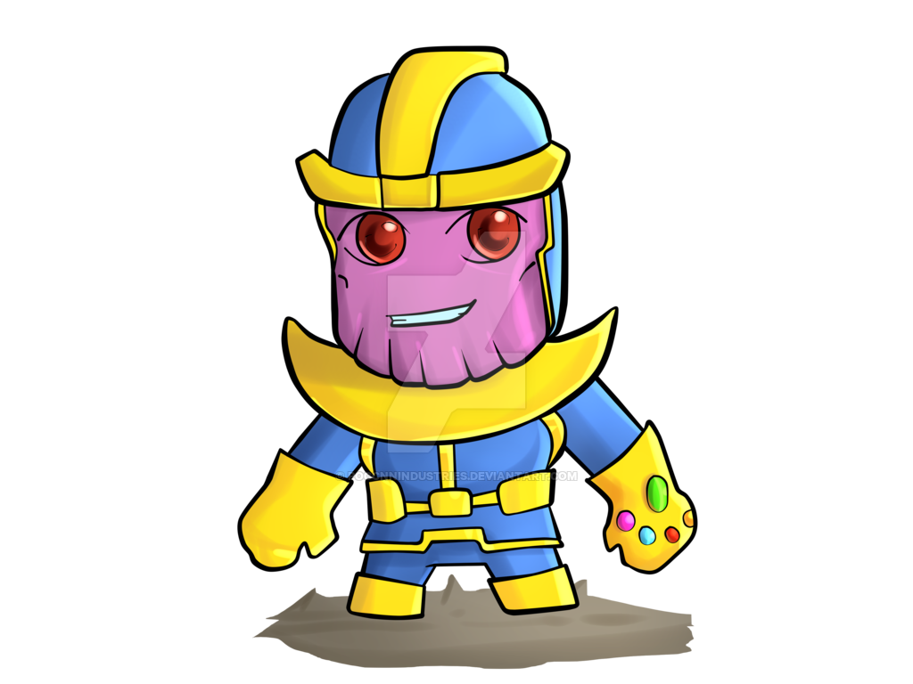 Thanos clipart chibi. For print by poccnnindustries