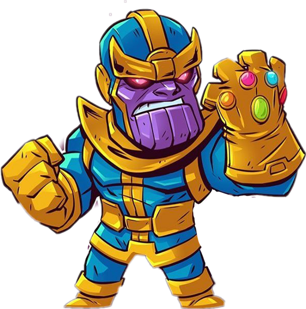 Thanos clipart cute. Sticker by enrique