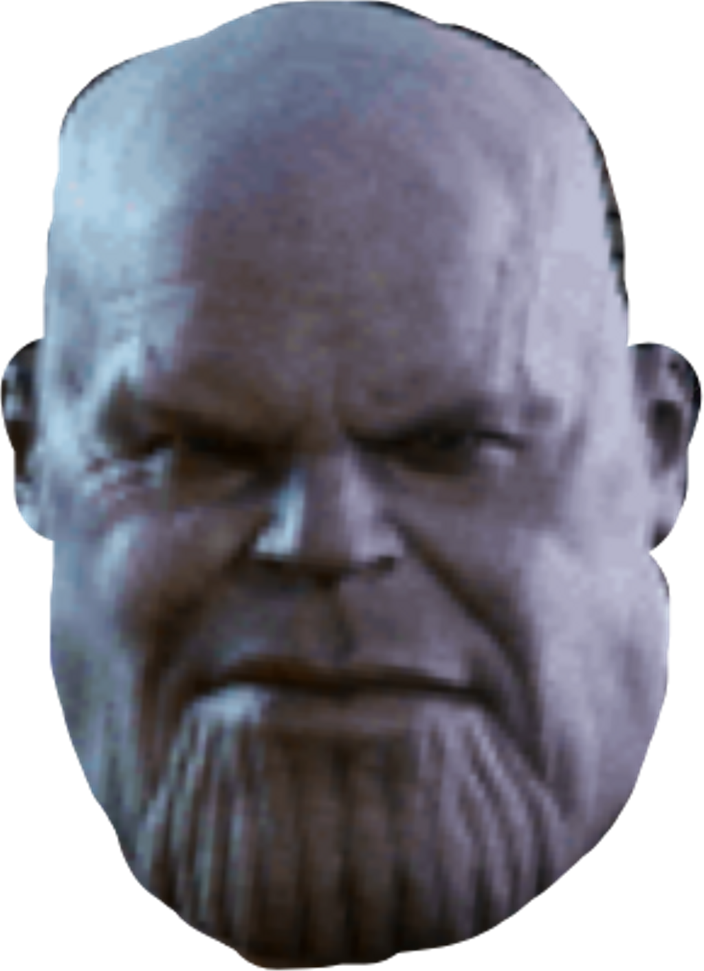 Thanos clipart face. Sticker by konthongkhisirivo
