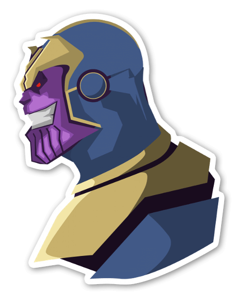 Thanos clipart kid. Stickerapp
