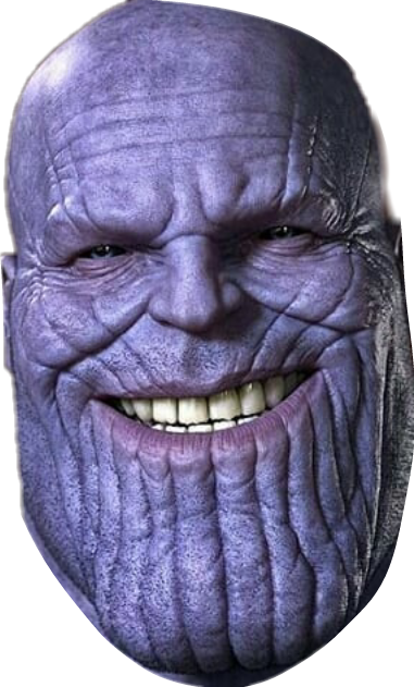 Thanos head png. Sticker by brunno eleuterio