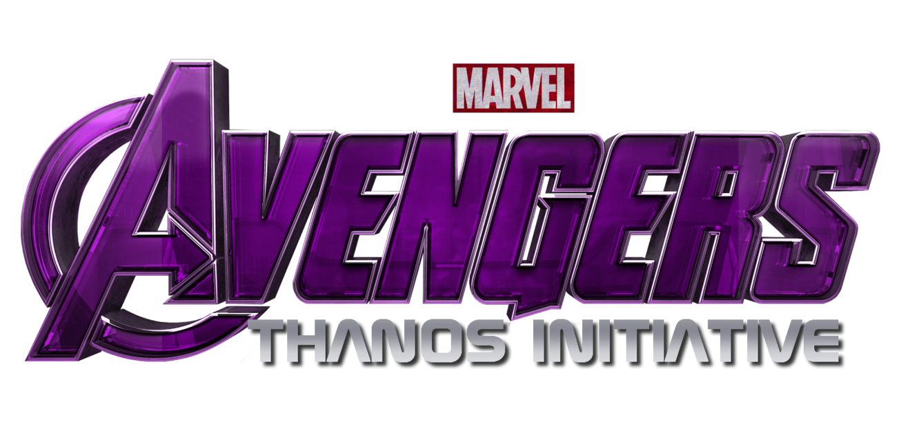 Thanos logo png. Avengers iniatiave title by