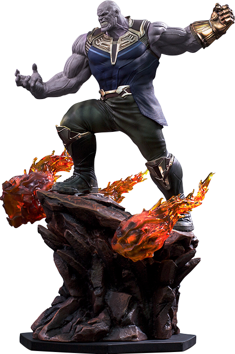 Marvel statue by iron. Thanos png image stock
