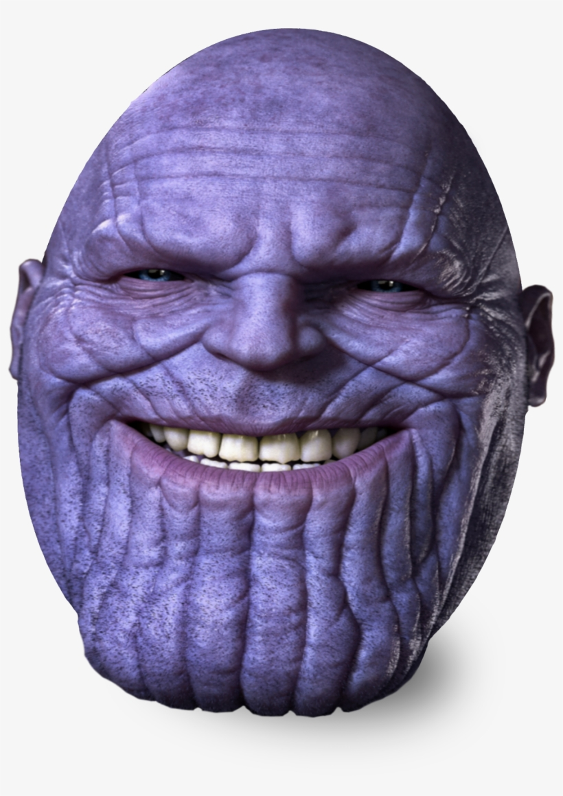 Thanos png face. Egg free transparent download