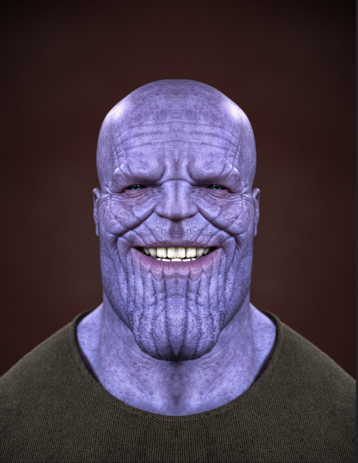 Thanos png face. But mirrored thanosdidnothingwrong