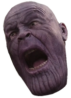 Thanos png face. In pain x micron
