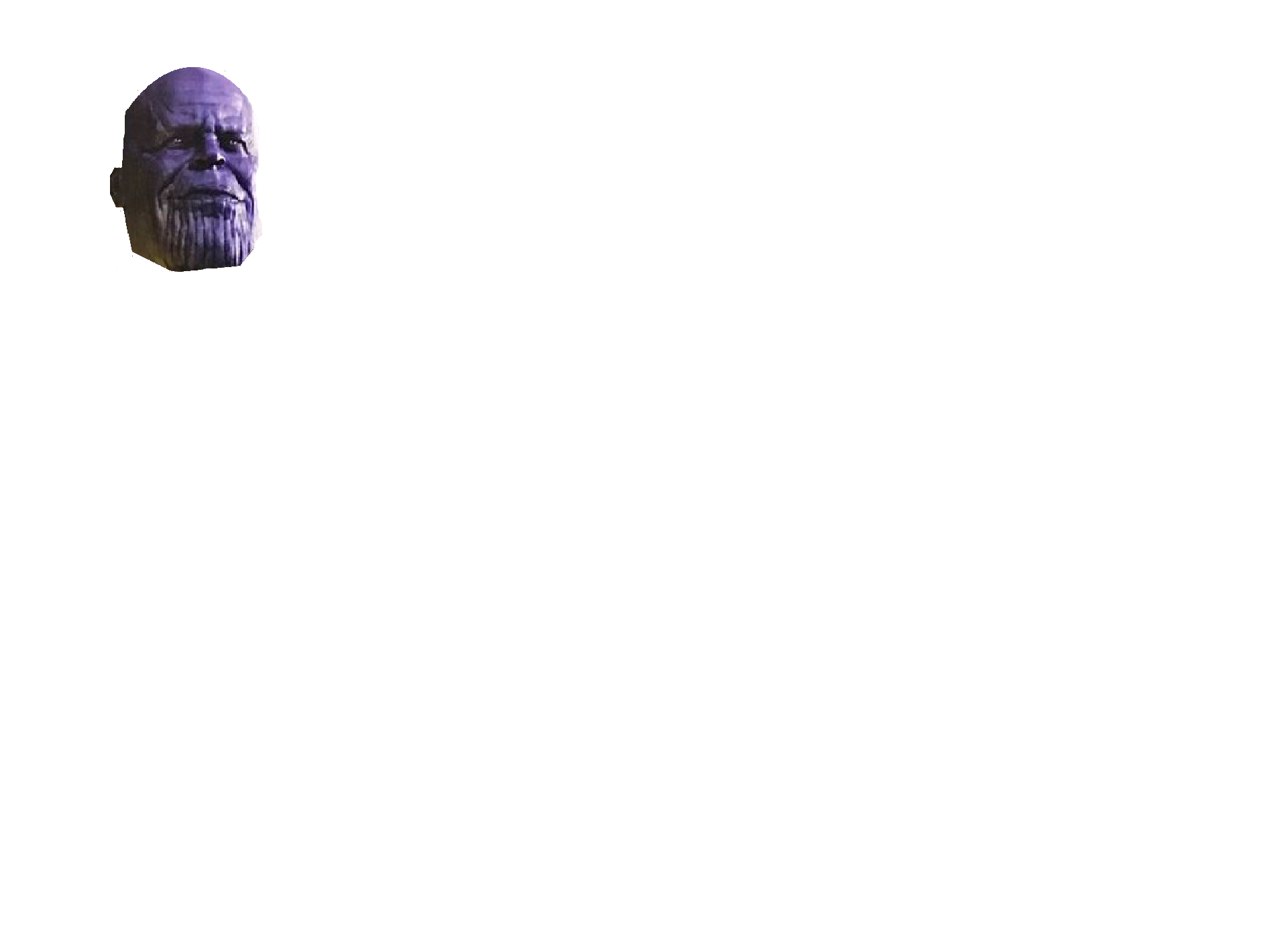 Thanos png head. Character idea khatastropher soccer