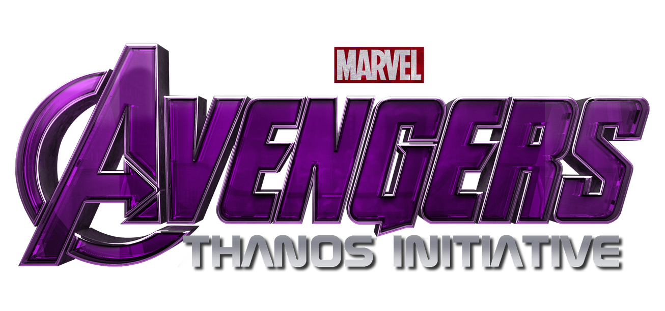 Thanos png logo. Avengers iniatiave title by