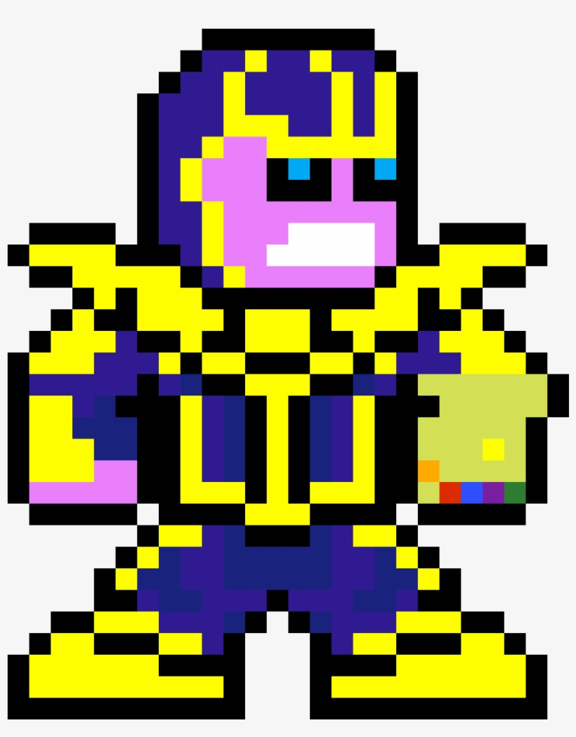 Thanos png pixel. Art grid transparent x
