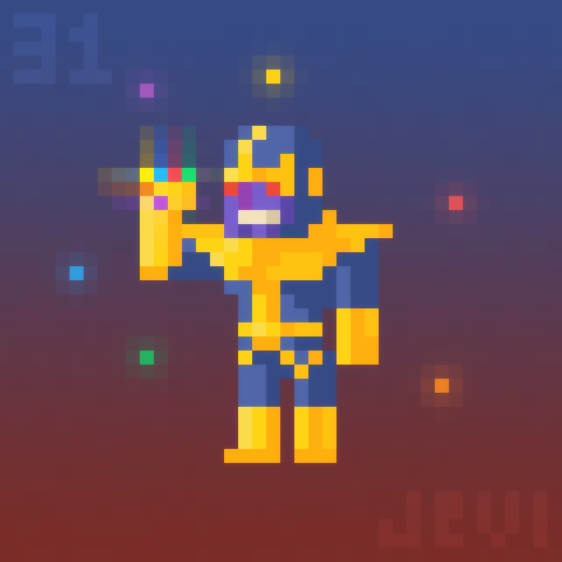 Thanos png pixel. Daily art by jevi