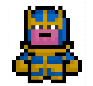 Thanos png pixel. The mad titan