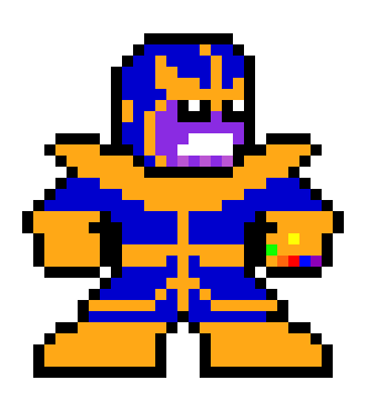 Thanos png pixel. Art maker