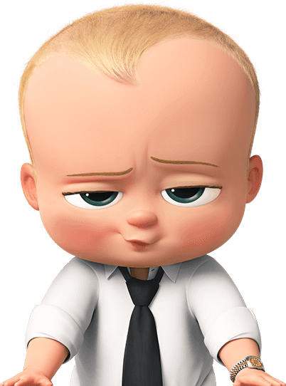 Transparent image arts. The boss baby png jpg black and white stock