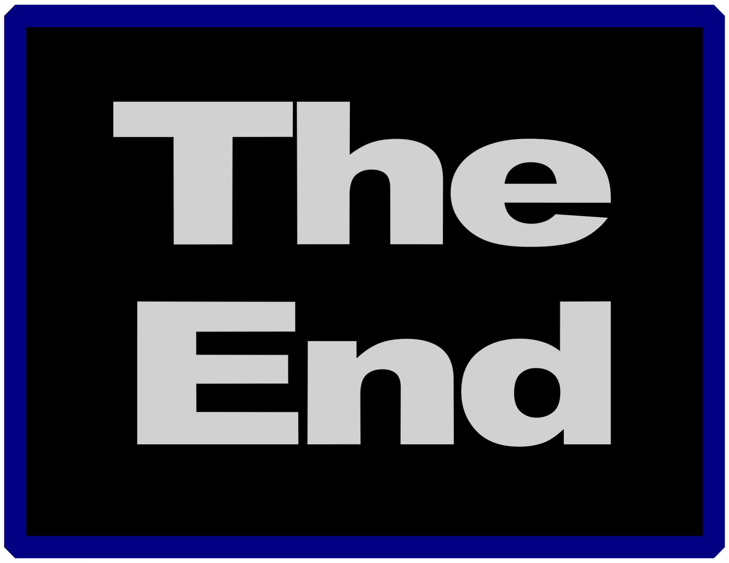 The end clipart. Big image png