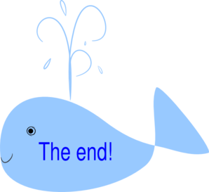 The end clipart. Whale clip art at