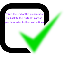 Of presentation clip art. The end clipart image freeuse library