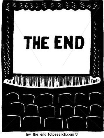 Of clipground ideas mnmgirls. The end clipart picture black and white
