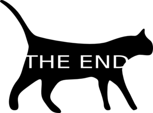 The end clipart moving picture. Kitty cat clip art