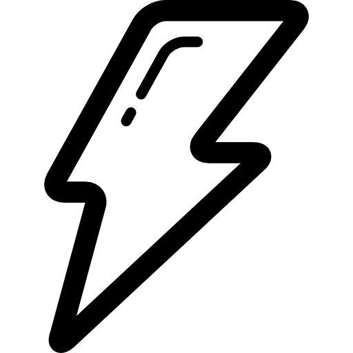 The flash lightning bolt png. Outlined free weather icons