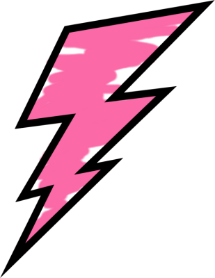 The flash lightning bolt png. Pink painted weather storms
