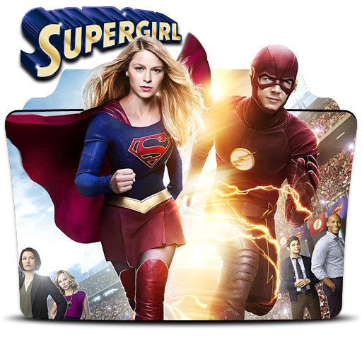 The flash y supergirl png. And by vininy on