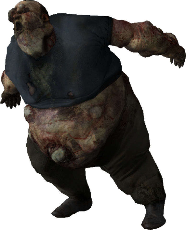 The giant zombies png. Boomer character bomb