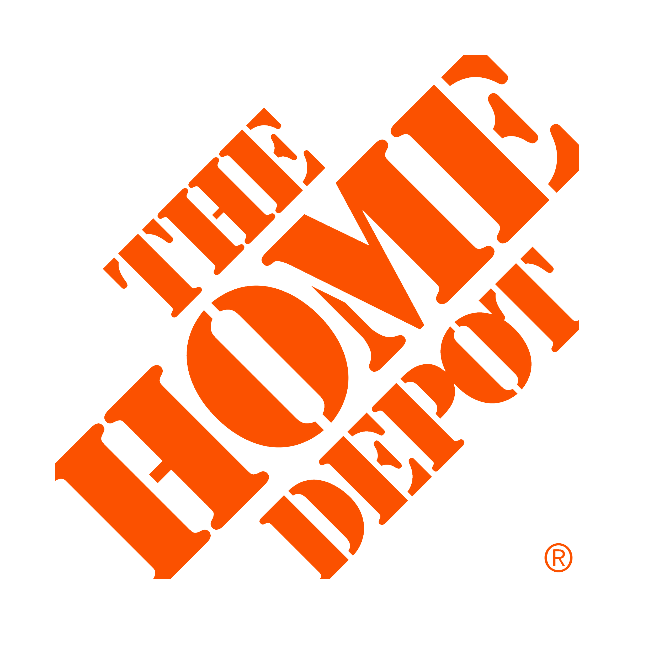 The home depot logo png. Retail business transprent download