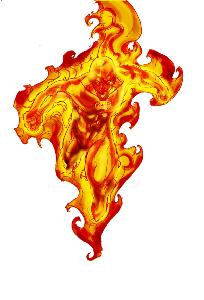 The human torch png. Download free transparent image