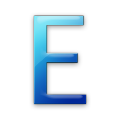 The letter e png. Simple free icons and