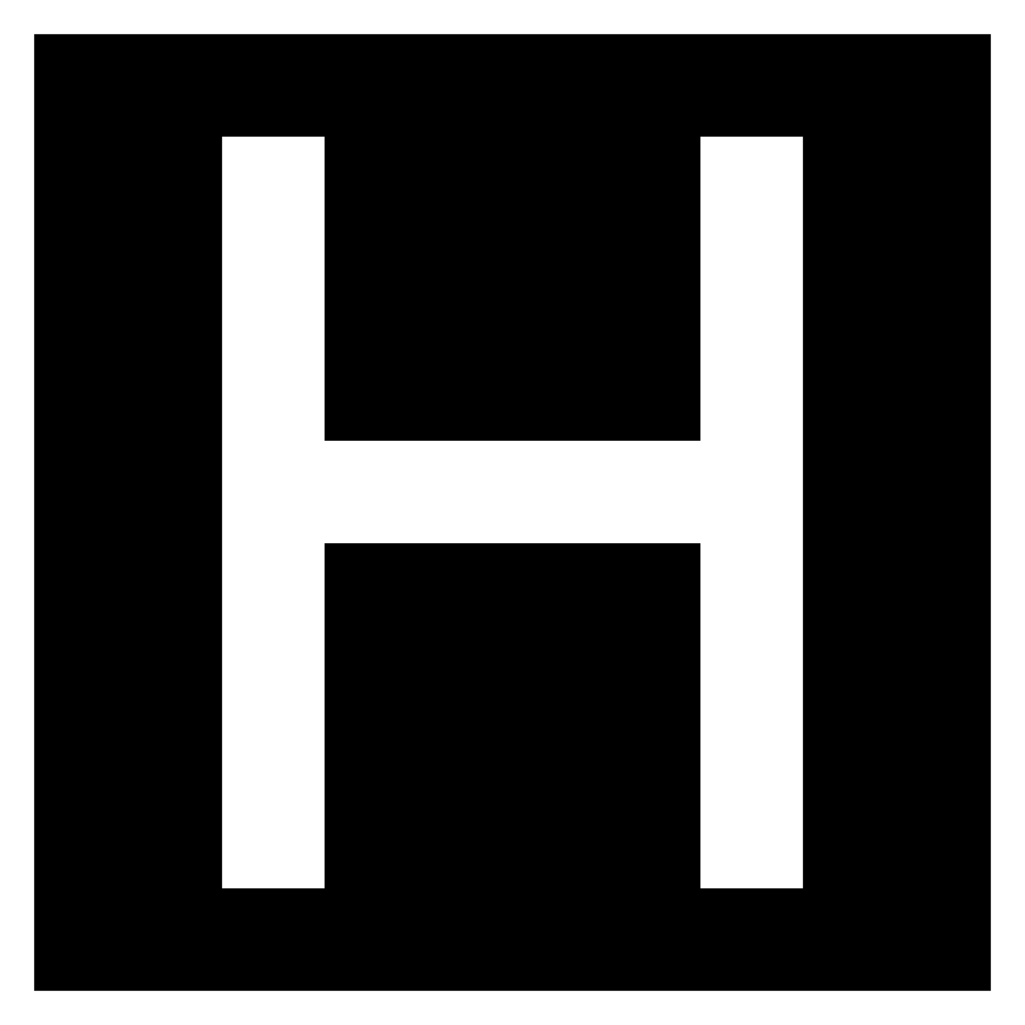 H vector stylized. File letter in white