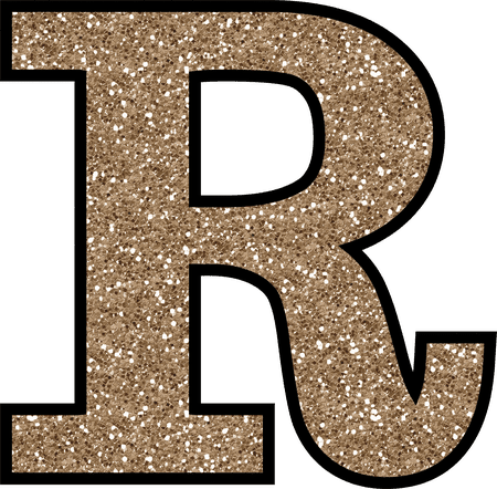 The letter r png. Free glitter alphabet to