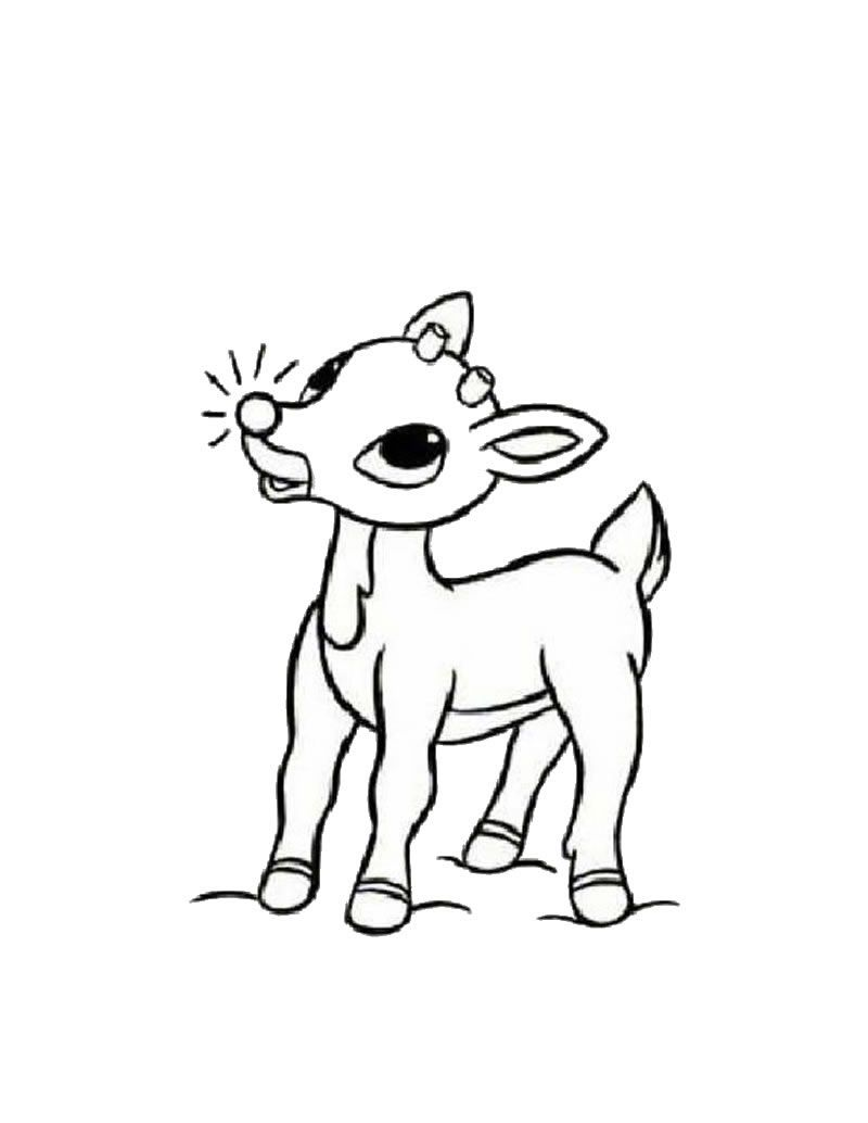The nosed clipart colouring. Rudolph red reindeer coloring