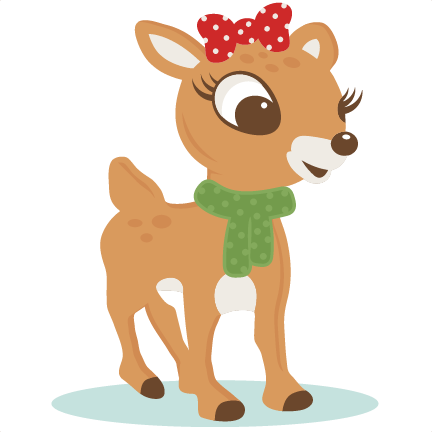 The nosed clipart pretty. Red reindeer svg scrapbook