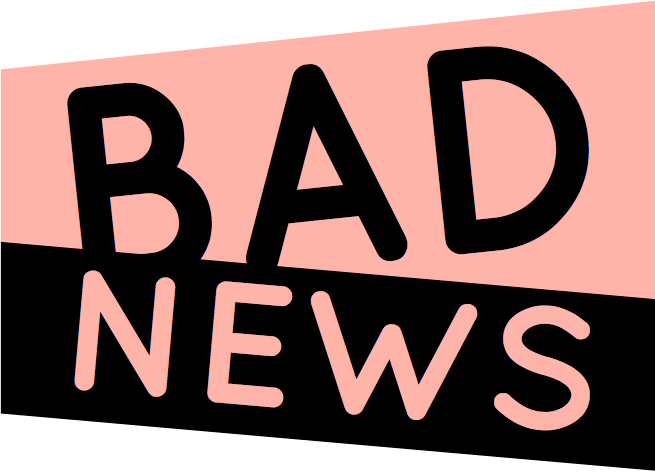 Newspaper clip bad news. An immersive experience