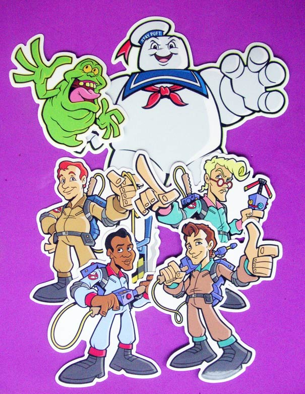 The Real Ghostbusters. Vinyl stickers egon ray