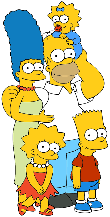 The Simpsons. Clip art cartoon