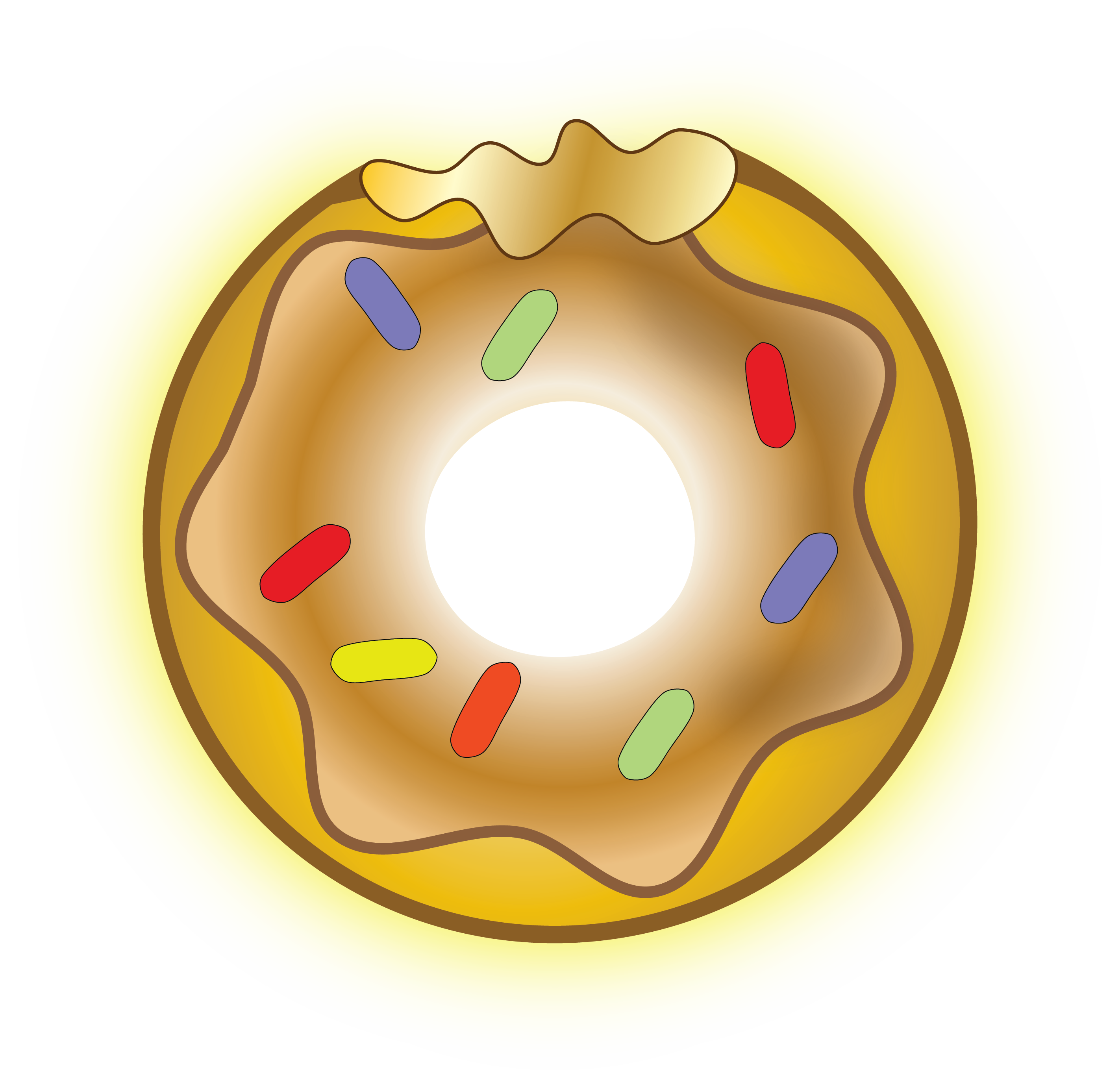 The simpsons donut png. Gold reflections from golden