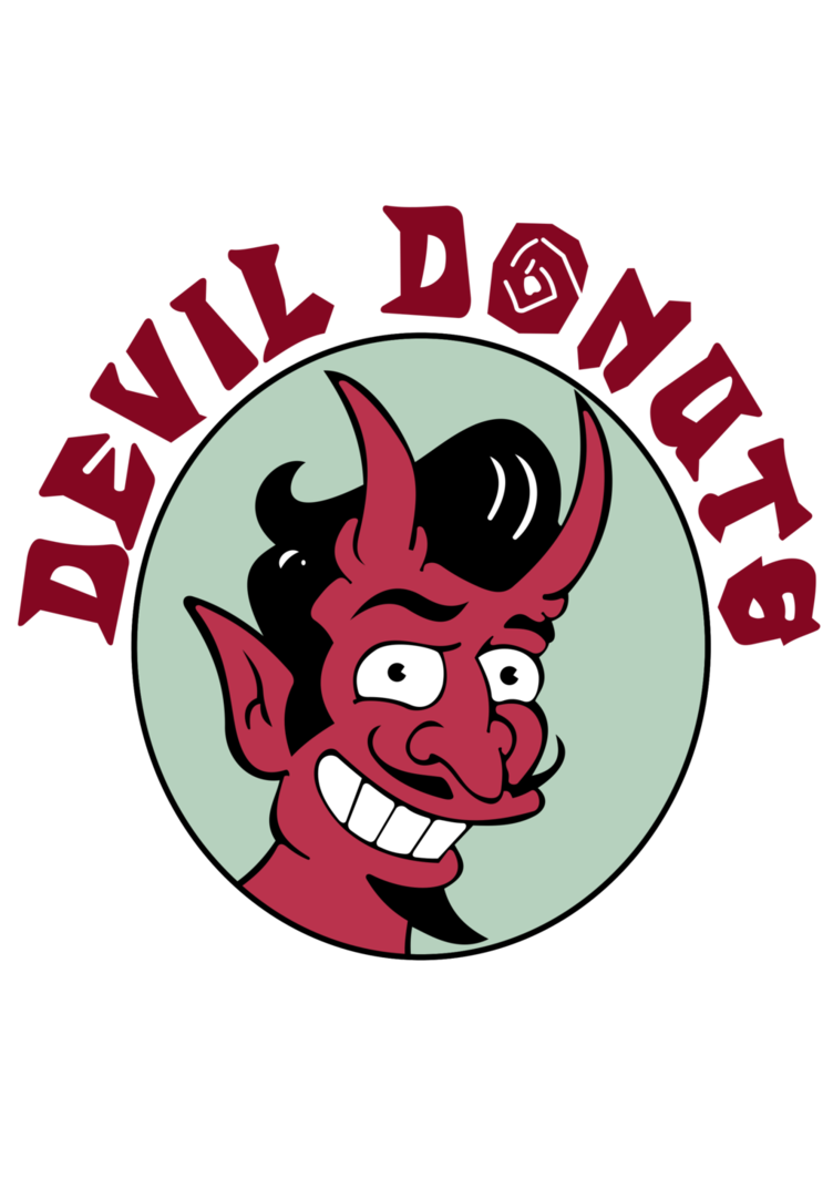 The simpsons donut png. Devil donuts by pointingmonkey