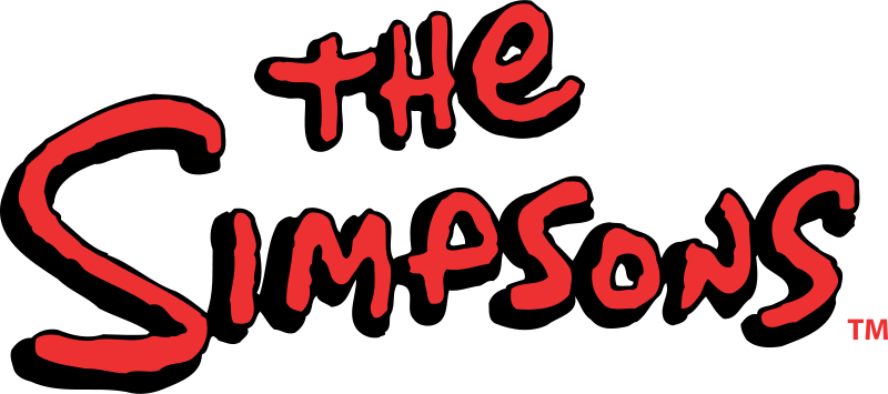 The simpsons logo png. File wikimedia commons filethe