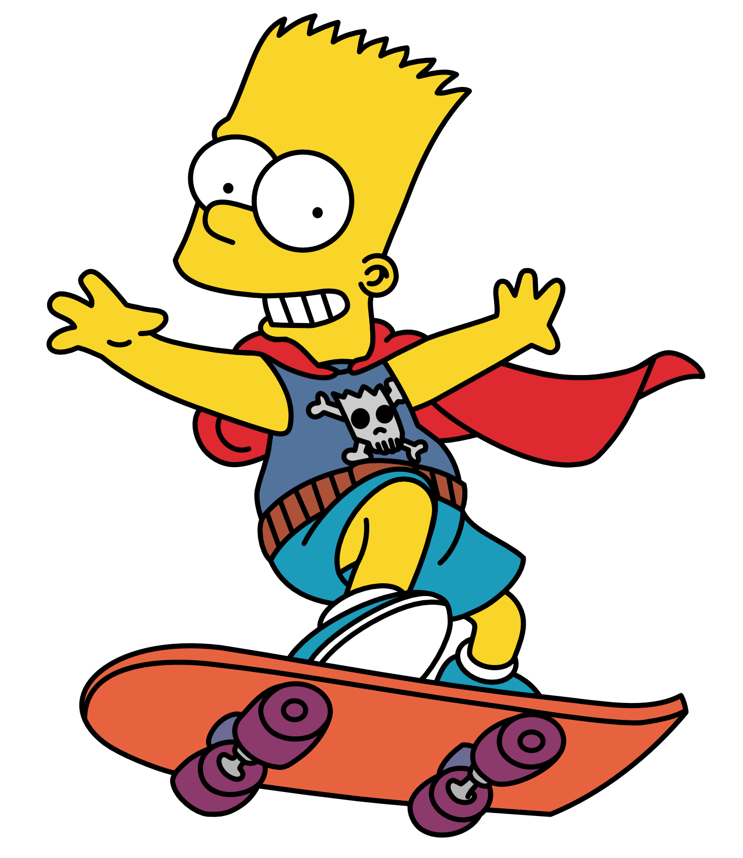 The simpsons png. Bart simpson