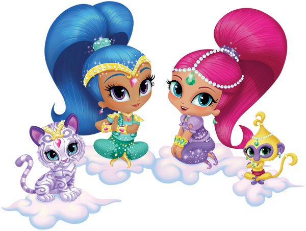 The transparent art. Shimmer and shine png